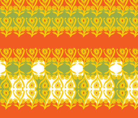 stylized sunflowers in vivid autumn colors fabric by eva_krasilni_razbor on Spoonflower - custom fabric