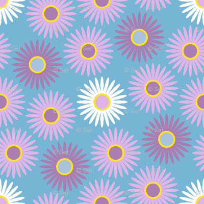 00759823 : S43 floral : large daisies