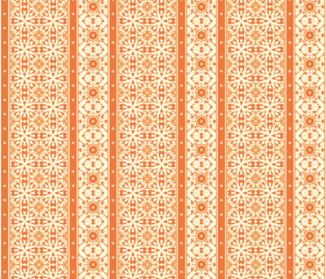 A Creamy Pumpkin Pie Border fabric by inscribed_here on Spoonflower - custom fabric
