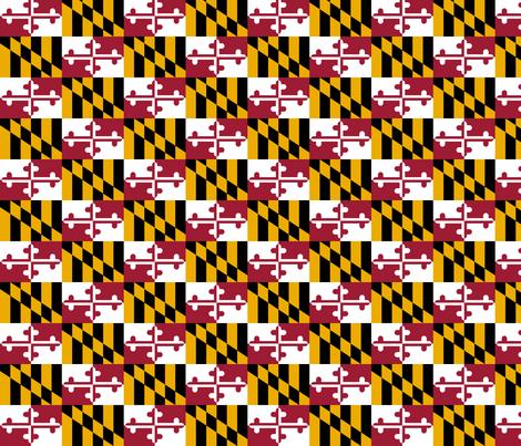 Maryland_state_flag fabric by yoshabel on Spoonflower - custom fabric