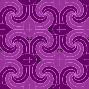 00760184 : spiral spiders : purple magenta