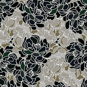 Blossoms in Black Patina Collection