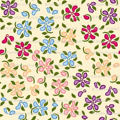 Flood of Flowers A eyelet_4_f_2_multi_tan A green-ch