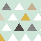 Mod Aqua Triangles half scale