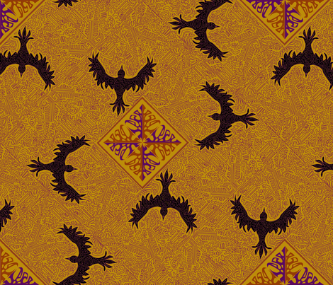 ©2011 As the Crow flies - Harvest Home   fabric by glimmericks on Spoonflower - custom fabric
