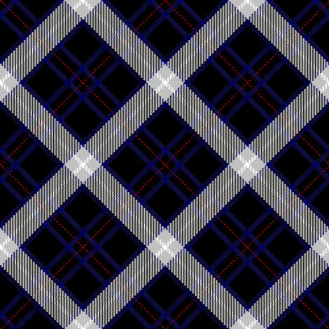 Black, Blue and White Plaid fabric by eclectic_house on Spoonflower - custom fabric
