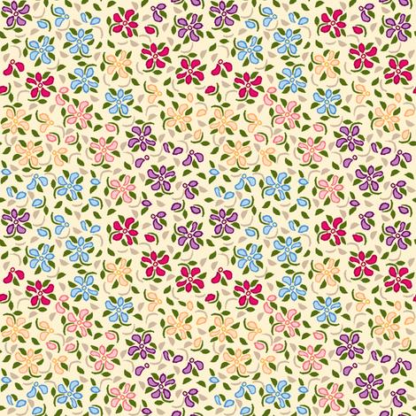 Flood_of_Flowers_eyelet_4_f_2_multi___tan_A3_green_shadow fabric by khowardquilts on Spoonflower - custom fabric