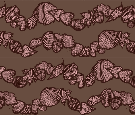 You Owe Me A New Acorn (zoom for detail) fabric by noaleco on Spoonflower - custom fabric