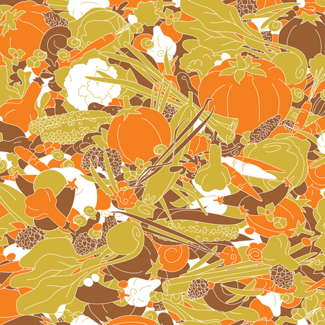 Bountiful harvest fabric by theboerwar on Spoonflower - custom fabric