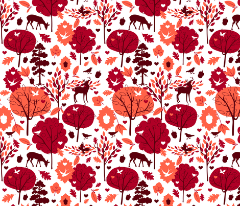 A Day in the Forest fabric by myzoetrope on Spoonflower - custom fabric