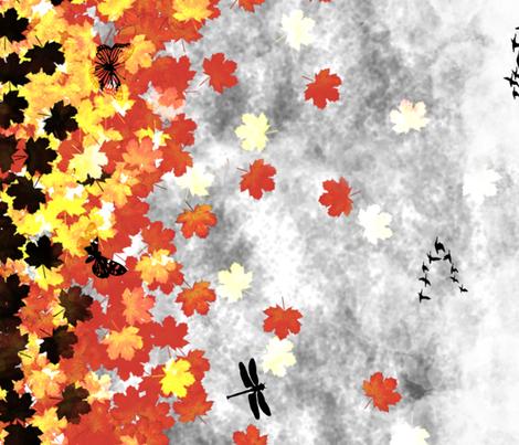 Autumn Dusk fabric by craftonista on Spoonflower - custom fabric