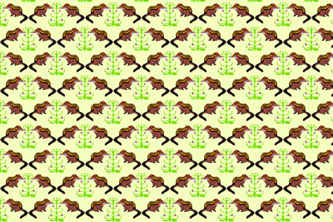 Chipmunks Stop to Smell the Roses fabric by robin_rice on Spoonflower - custom fabric