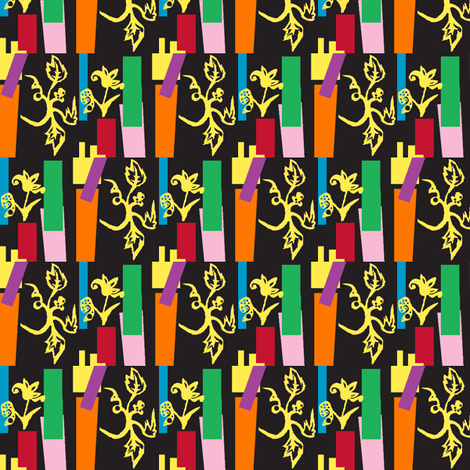 Cut-Paper Floral-ch fabric by boris_thumbkin on Spoonflower - custom fabric