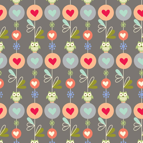forest friends floral fabric by amel24 on Spoonflower - custom fabric