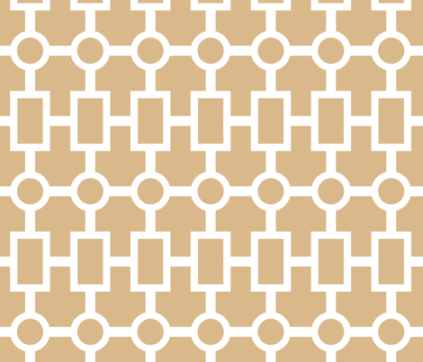 geometric chain in camel fabric by domesticate on Spoonflower - custom fabric