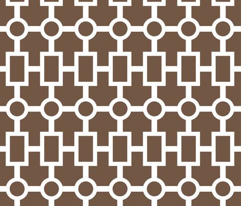 geometric chain in chocolate fabric by domesticate on Spoonflower - custom fabric
