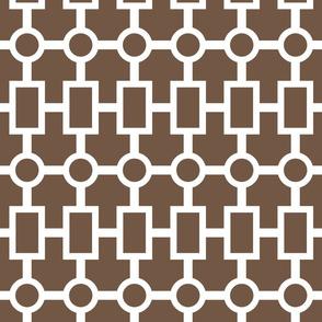 geometric chain in chocolate