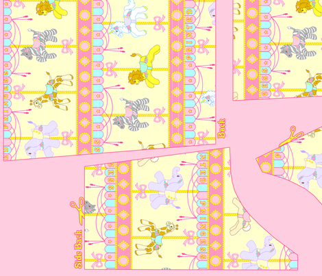 OP Panel Yellow Size 54 fabric by printedprincess on Spoonflower - custom fabric
