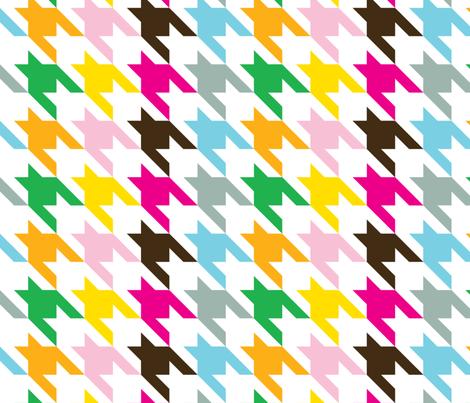Houndstooth Rainbow-ed fabric by honey&fitz on Spoonflower - custom fabric