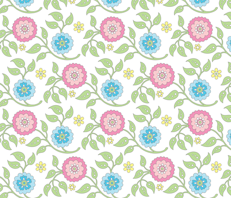 Garden Flowers fabric by andibird on Spoonflower - custom fabric