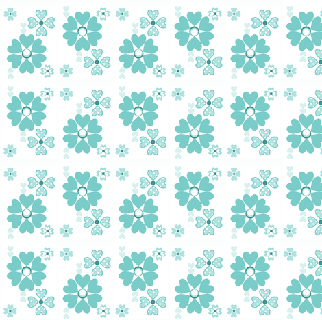 Retro flowers Ditsy Print fabric by delsie on Spoonflower - custom fabric