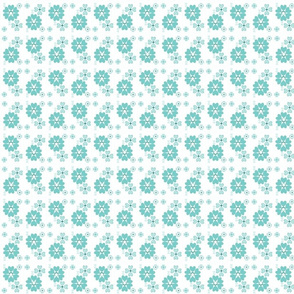 Retro flowers Ditsy Print