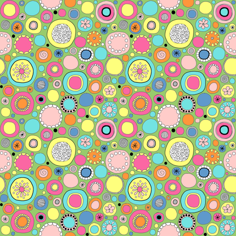 Ditsy Circles fabric by angelaanderson on Spoonflower - custom fabric