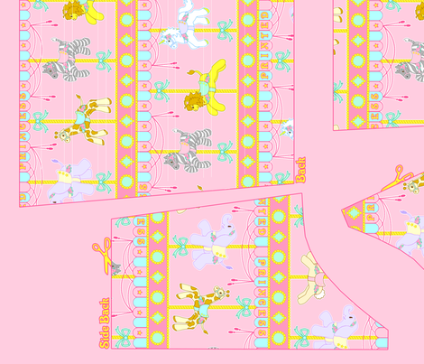 OP Panel Pink Size 52 fabric by printedprincess on Spoonflower - custom fabric