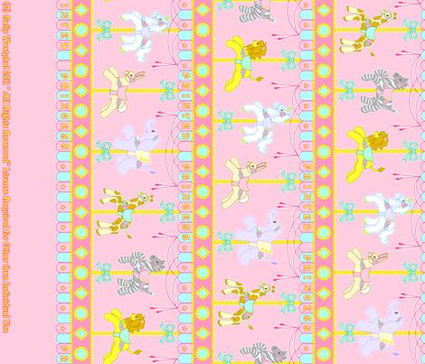 Magic Carousel Yardage Pink fabric by printedprincess on Spoonflower - custom fabric