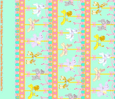 Magic Carousel Yardage Mint fabric by printedprincess on Spoonflower - custom fabric