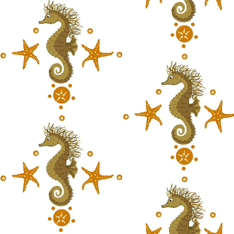 seahorse fabric by paragonstudios on Spoonflower - custom fabric
