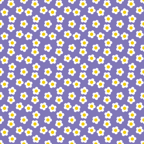 Scattered daisies fabric by shelleymade on Spoonflower - custom fabric