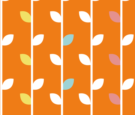 Orange tree fabric by blingmoon on Spoonflower - custom fabric
