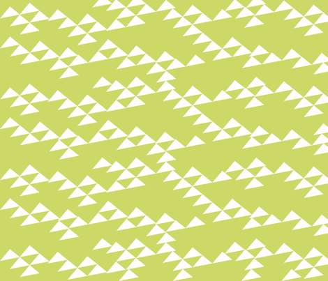 Green mountain in the summer fabric by blingmoon on Spoonflower - custom fabric
