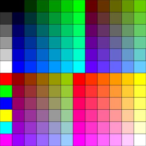 8x8 Color Sample fabric by terridee on Spoonflower - custom fabric