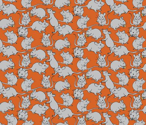 I Like Cheese Mice fabric by jmckinniss on Spoonflower - custom fabric