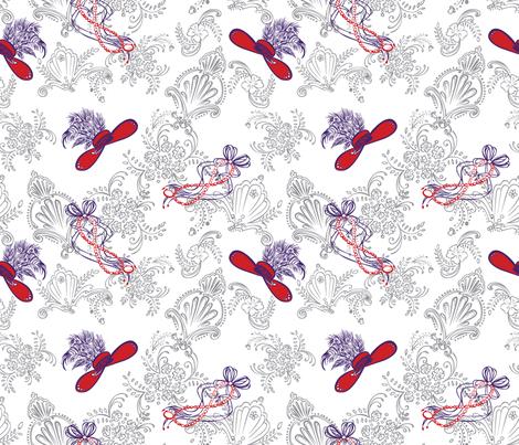 GreyDecRedHats2011 fabric by nikky on Spoonflower - custom fabric