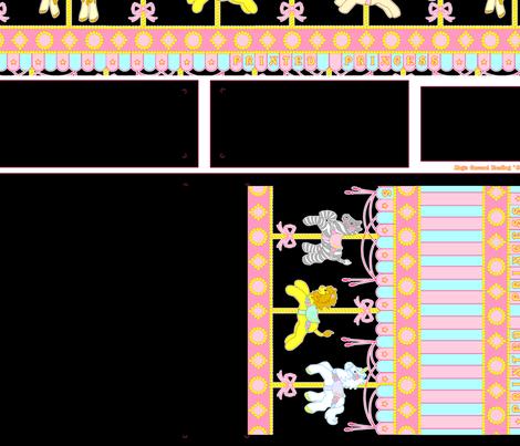 Black Magic Carousel Purse fabric by printedprincess on Spoonflower - custom fabric