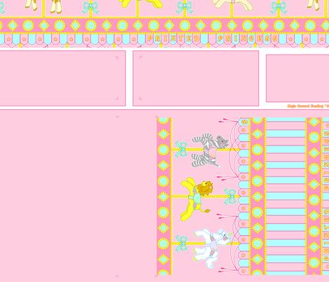 Pink Magic Carousel Purse fabric by printedprincess on Spoonflower - custom fabric