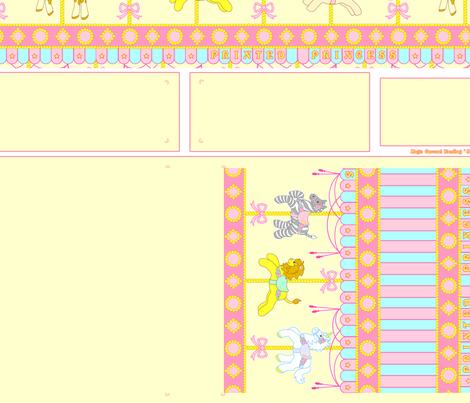 Yellow Magic Carousel Purse fabric by printedprincess on Spoonflower - custom fabric