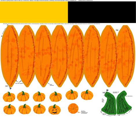 Decorate your pumpkin kit fabric by haleystudio on Spoonflower - custom fabric