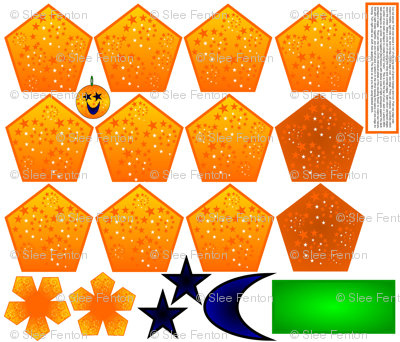 Stars and Moon Jack o Lantern Plushie