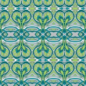 Crocus Spring (gray/green/teal)