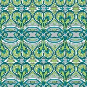 Crocus Spring (gray/green/teal)