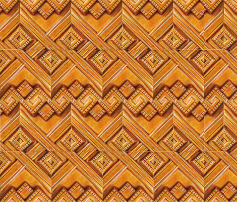 Mayan Gold 2  fabric by pad_design on Spoonflower - custom fabric