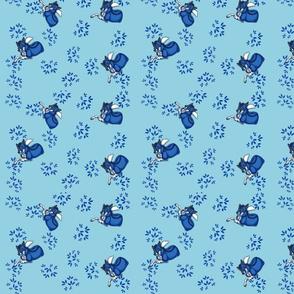 Blue Woleetah-Fursona Print