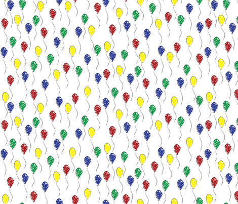 Doodle Balloons fabric by robyriker on Spoonflower - custom fabric