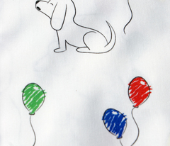 Doodle Bassets and Balloons