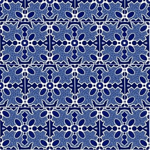 Marble Mosaic Small Tiles in Navy