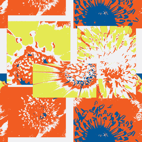Flowers Centers with Orange 18x21 fabric by petals_fair_(peggy_brown) on Spoonflower - custom fabric